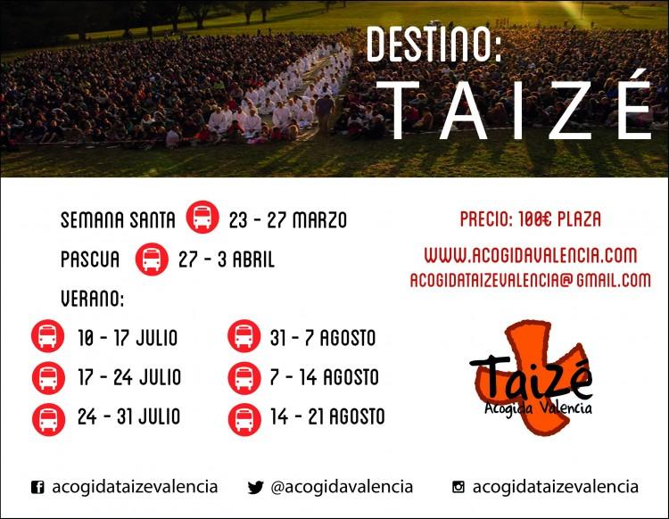 Autobuses organizados a Taize desde Valencia