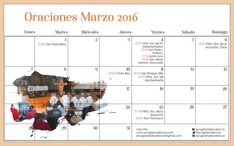 oraciones marzo 2016