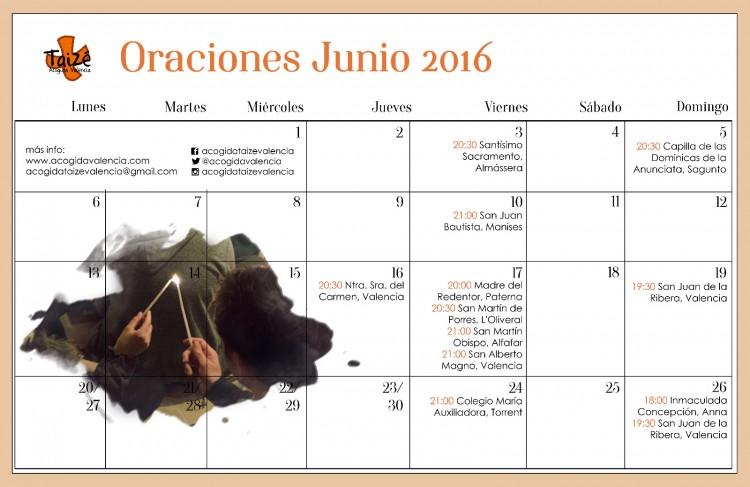 Oraciones Valencia Taizé Junio 2016