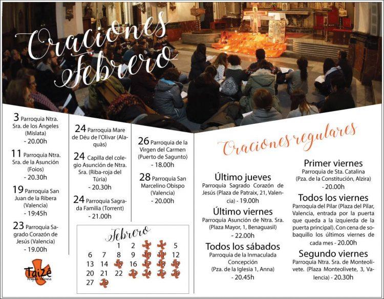Oraciones mes de febrero 2017